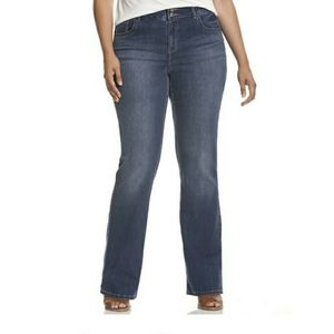 Lane Bryant High Rise Boot Cut T3 Faded Dark Wash